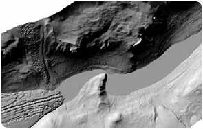 Shaded relief map of a portion of Taylor Valley